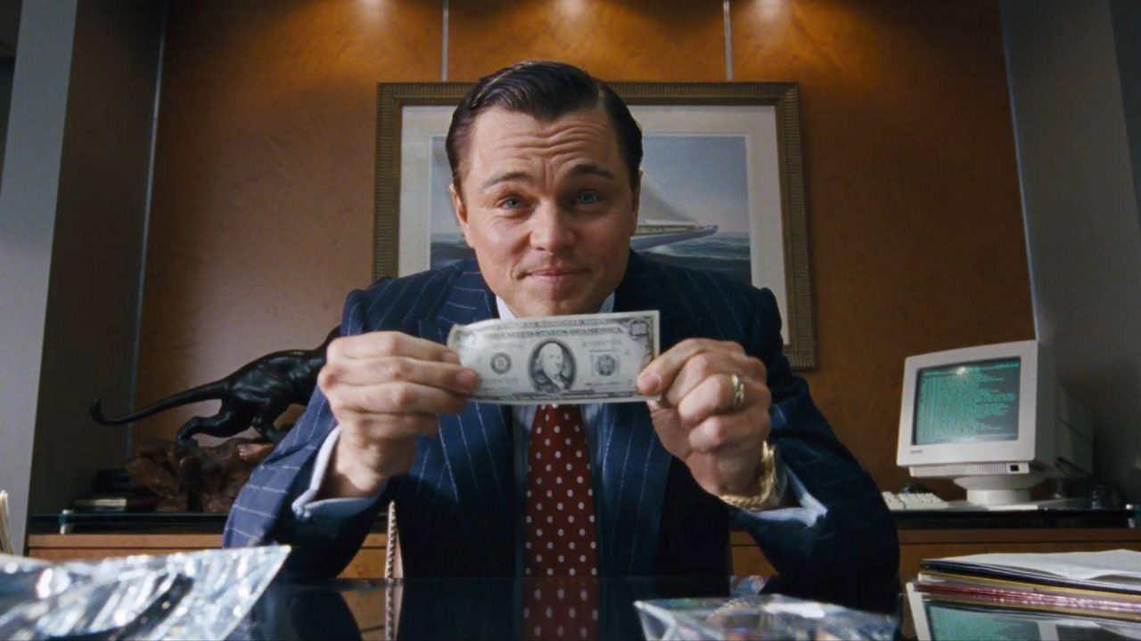 The Wolf of Wall Street: la striscia bianca dello zio Sam